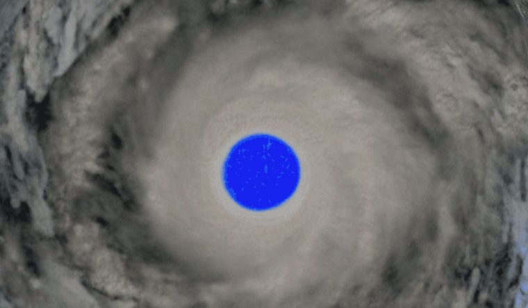 Eye of the hurricane on the NOAA island