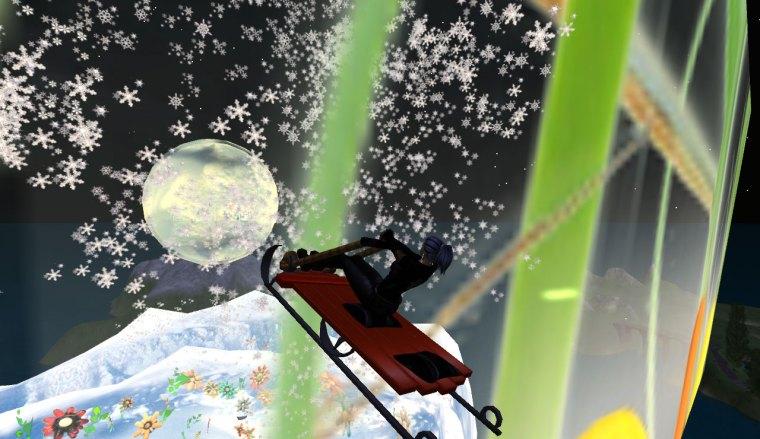Through the snow globe