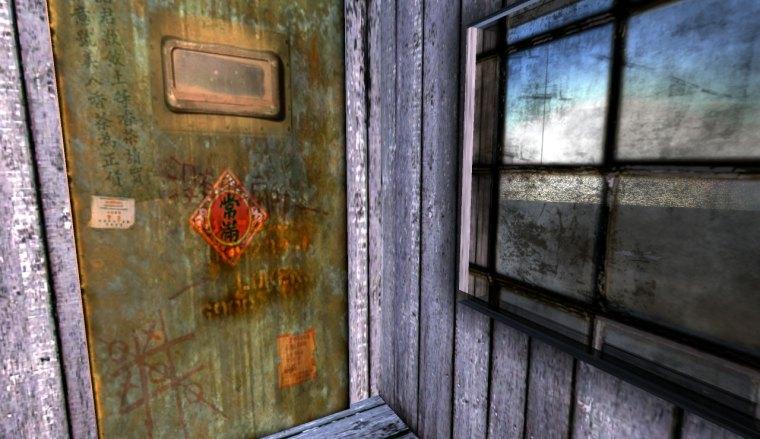 door detail showing textures