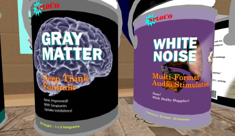 Gray Matter and White Noise Gallon Cans by demarco Spatula
