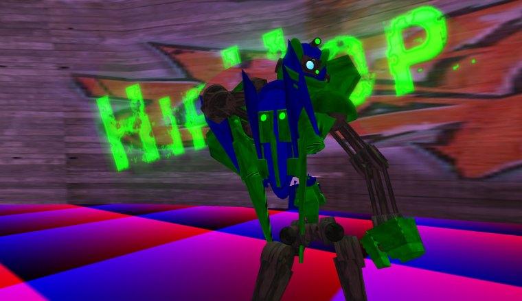 Hip Hop Robot dancing to