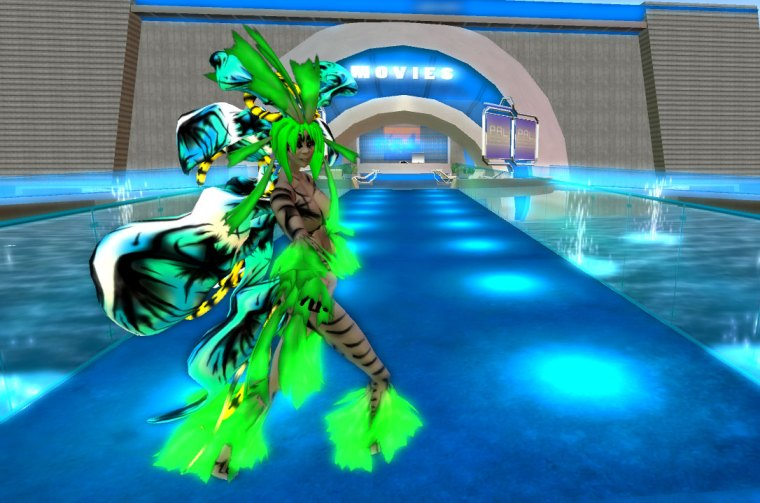 Lily Dryad (Vornaki) dancing outside the movie theater at PAL.
