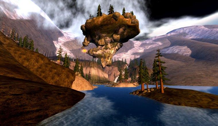 Floating rock island named 'Weyr' at Aggro 153,66,79