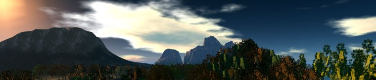 New Frontier - A mountain range in OpenSim