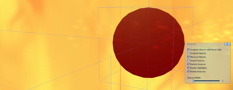 Click on that dreaded red ball of fire and hit delete and the whole effect will vanish