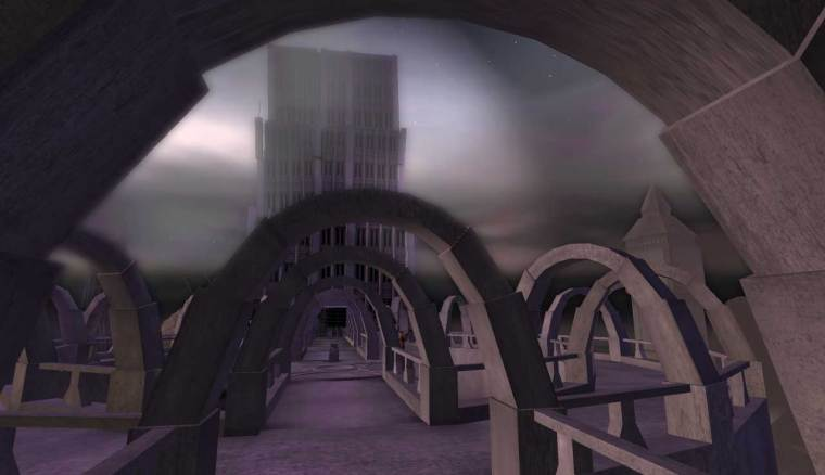 A view of one of the twin Abyss towers