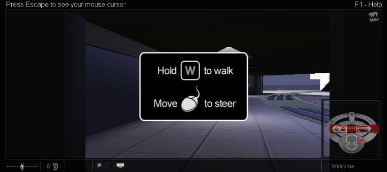 Very simple movement directions are the next things you see