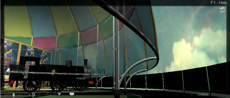 Steam engine in MellaniuM Dome