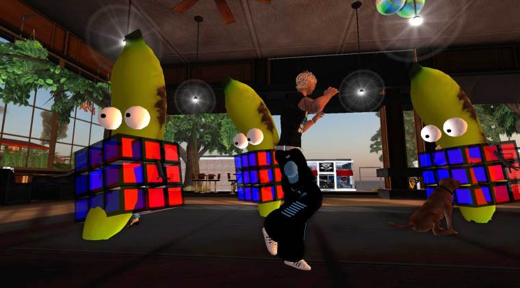 Bananas in Rubik Cubes dancing at Muddy's
