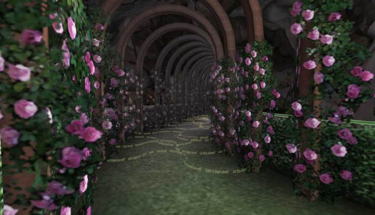 The Path of Temptation on Macbeth Island in Second Life