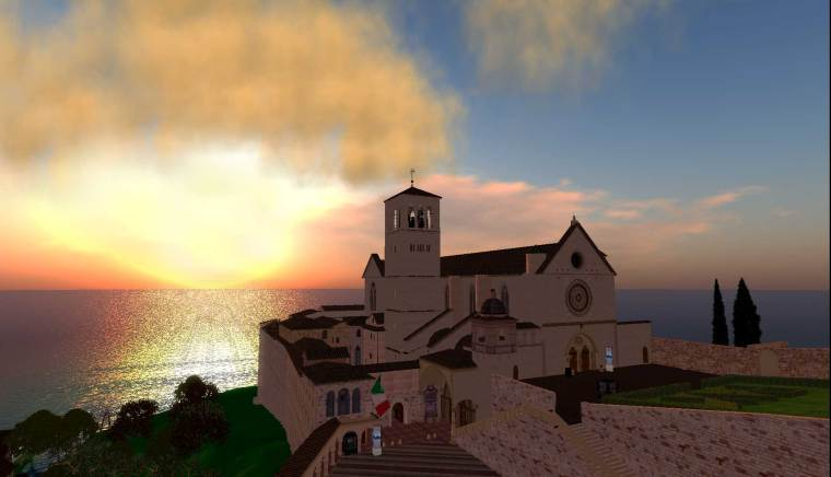 San Francesco Assisi in Second Life
