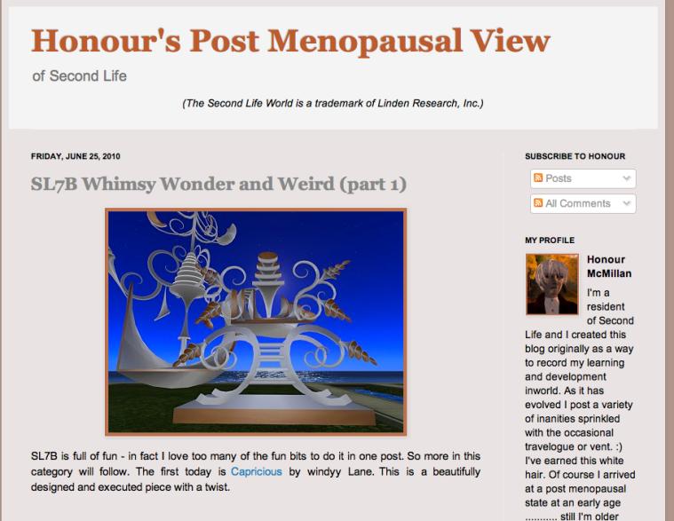 Honour's Blog