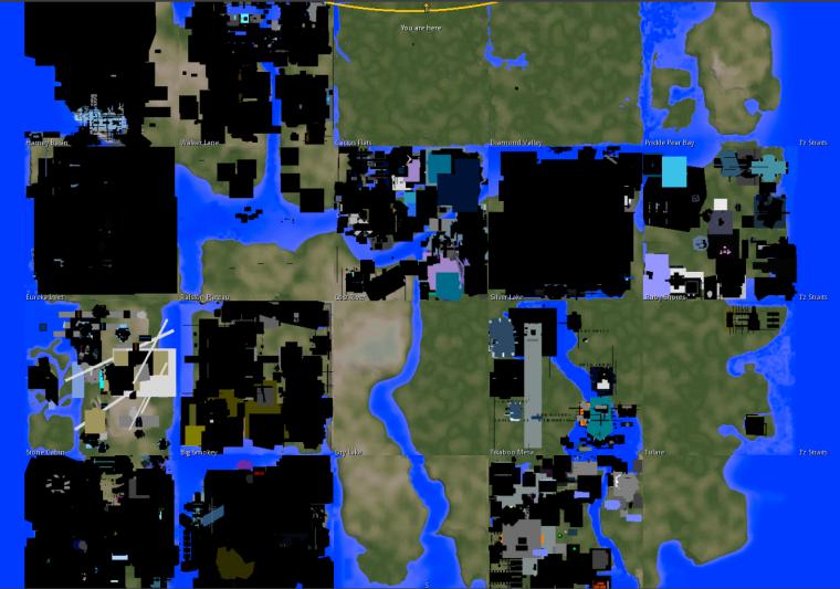InWorldz map