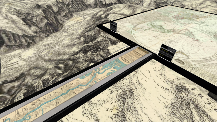 David Rumsey's Antique Maps in Second Life