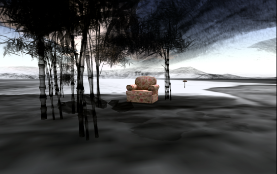 Comfy armchair in the bamboo grove -aston Leisen. China. Second Life