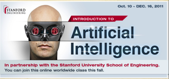 Sebastian Thrun and Peter Norvig's AI Course run from Stanford University