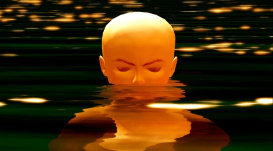 Head in water by Rose Borchovski