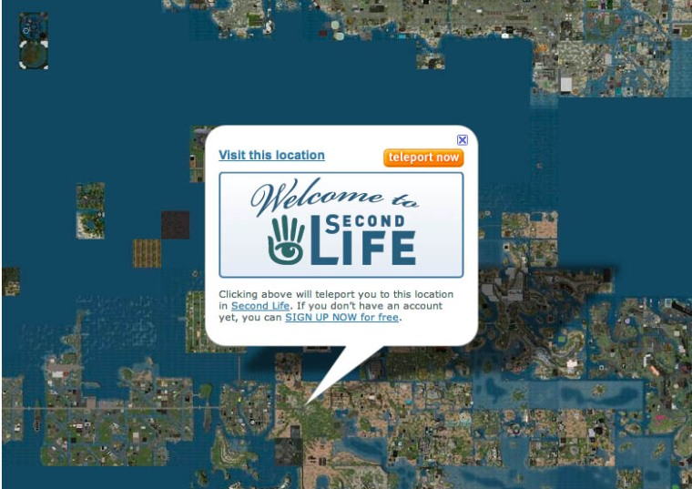 Second Life's slurl locator